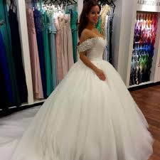 ballgown wedding dresses wonderful beaded the shoulder gown bridal gown wedding