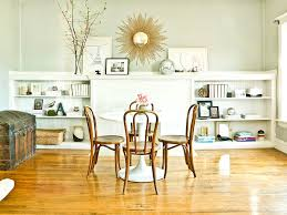 baroque sunburst mirror in dining room eclectic with dining room