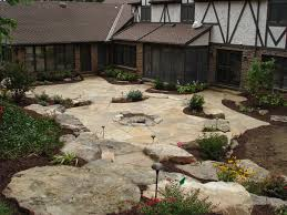 Pictures Of Patios With Fire Pits Natural Stone Landscaping Aching Acres Landscaping