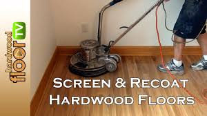 screen hardwood floors buff recoat