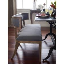 Modern Dining Bench With Back Livingston Modern Classic Curved Back Grey Dining Bench Kathy