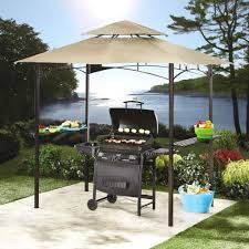 Outdoor Patio Grill Gazebo by Tan Grill Gazebo With Solar Lights Christmas Tree Shops Andthat