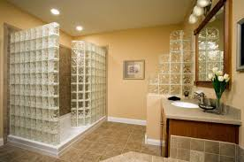 glass block bathroom ideas apartments charming bathroom decor ideas with glass block shower