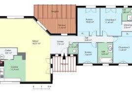 plan maison contemporaine plain pied 3 chambres plan maison de plain pied 110 m avec 3 chambres ooreka con plan