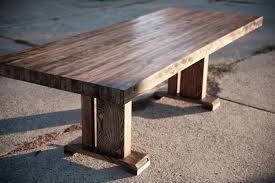 dining trestle table butcher block table solid wood farmhouse dining table