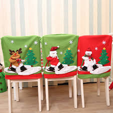 snowman chair covers 2017 merry christmas chair cover flannelette ornaments