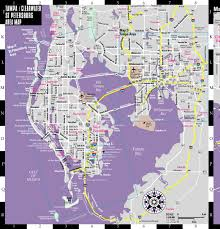 Pinellas Trail Map Streetwise Tampa Map Laminated City Center Street Map Of Tampa