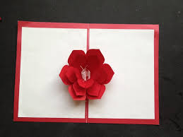 easy to make a 3d flower pop up paper card tutorial u0026 free pattern