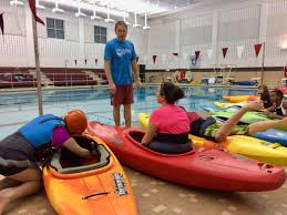laurel highlands high kayak pool session aca canoe