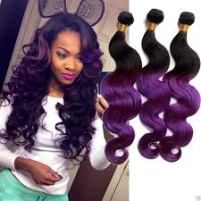 purple hair extensions purple ombre malaysian hair extension cheap 3 bundles human hair