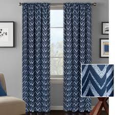 Navy Chevron Curtains Better Homes And Gardens Textured Chevron Room Darkening Curtain