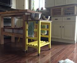 rolling kitchen island plans free diy kitchen island on wheels has dumpster bookshelf turned
