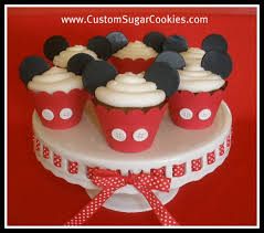 mickey mouse cupcakes mickey mouse cupcakes gingerbread cupcakes with fondant e flickr