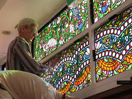 creative stained glass windows to the spiritual world