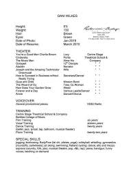 Audition Resume Template Dancer Resume Template 6 Free Word Pdf Documents Download