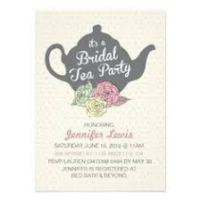 bridal tea party invitation bridal shower tea party invitations cloveranddot