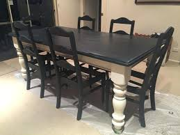 painted dining room set chalk paint kitchen table paint dining room table amazing decor