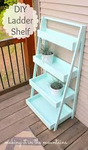 Shelf Ladder Woodworking Plans by The 25 Best Ladder Shelves Ideas On Pinterest Ladder Desk Desk