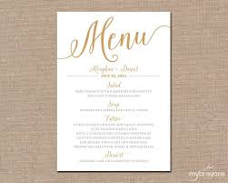 wedding menu cards best 25 diy wedding menu cards ideas on wedding menu