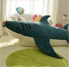 Shark Bean Bag 2018 Dorimytrader 79 200cm Shark Sleeping Bag Stuffed