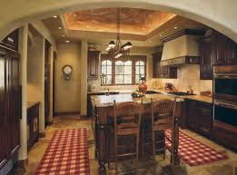 Kitchen Laminate Floor L Shaped Brown Painted Wooden Kitchen Cabinets Solid Oak Wood