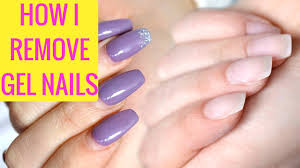how i remove gel nails at home youtube
