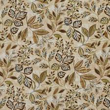 Indoor Outdoor Fabric For Upholstery Brown Green And Blue Floral Leaf Indoor Outdoor Upholstery Fabric