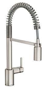 brantford kitchen faucet moen brantford one handle high arc pulldown kitchen faucet