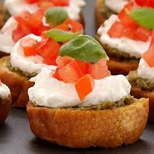 bruschettas with goats cheese basil and tomato recipes delia