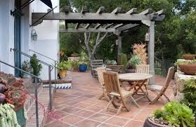 Flagstone Patio With Pergola Pergola And Patio Cover Pictures Gallery Landscaping Network
