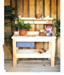 potting table with sink potting tables potting tables bench options redwood with casters 2