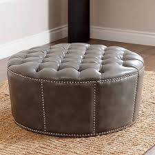 large round leather ottoman decoration in leather round ottoman large round leather ottoman