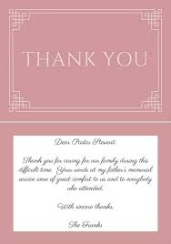 thank you cards for funeral 33 best funeral thank you cards funeral pastor and note
