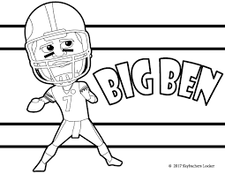 free steelers coloring pages for 2017 skybacher u0027s locker