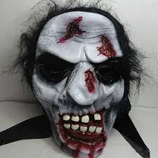 halloween full face mask cosplay scary ghost mask prank prop for