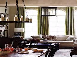transitional living room tan and green curtains for living room