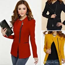 design of jacket suit 2017 autumn winter office lady blazers women daily work coat slim