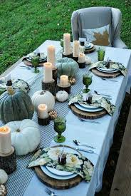 green thanksgiving table decorations