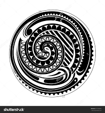 stock vector circle ethnic ornament maori origin 317224094