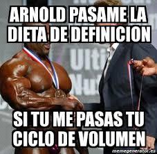 Meme Definicion - meme personalizado arnold pasame la dieta de definicion si tu me