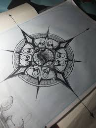 Nautical Map Tattoo Mandala Compass Design By Mandala For A Life Deviantart Com On