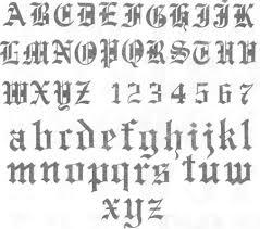 imagenes goticas letras letra gotica la tipografia