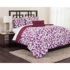 Queen Size Bed Comforter Set Bedroom Purple Floral Queen Size Bedding Sets With Rug And Wooden
