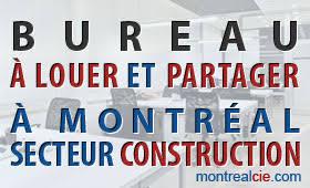 bureau à louer à bureau a louer et partager a montréal secteur construction