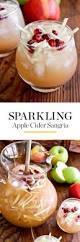 sparkling apple cider sangria recipe pitcher drinks