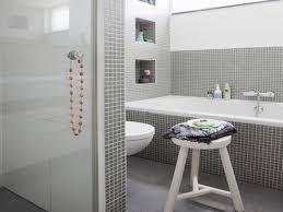 Small Grey Bathroom Designs Bathroom Breathtaking Built In Shower Shelves With Chic Design