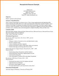 Dental Receptionist Resume Examples by 8 Resume Format For Receptionist Job Inventory Count Sheet