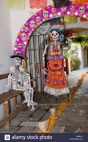 oaxaca mexico day of the dead skeletons welcome guests in the