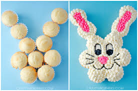 pull apart easter bunny cupcake cake crafty morning