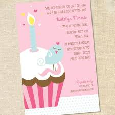 sweet little bird on a cupcake invitations for a u0027s first
